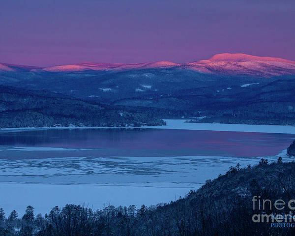 Sunrise Poster featuring the photograph Purple Mountains Majesty - Smarts Mountain, Jewell Hill by Christine Segalas