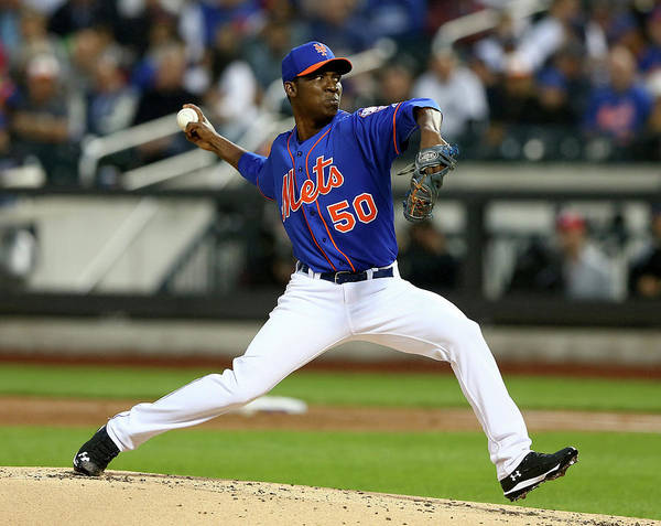 Second Inning Poster featuring the photograph Rafael Montero by Elsa