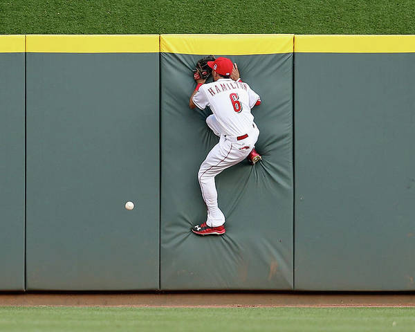 Great American Ball Park Poster featuring the photograph Randal Grichuk by Andy Lyons