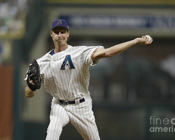 American League Baseball Poster featuring the photograph Randy Johnson by Rich Pilling