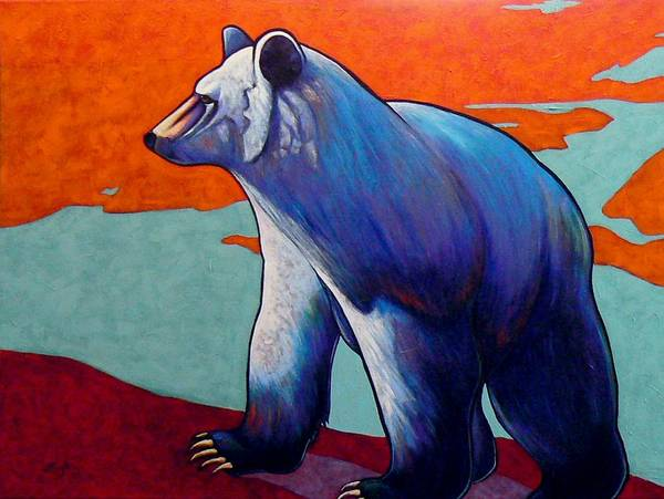 Wildlife Poster featuring the painting Return of the Spirit Bear by Joe Triano
