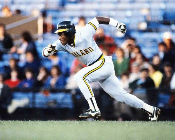 1980-1989 Poster featuring the photograph Rickey Henderson by Ronald C. Modra/sports Imagery