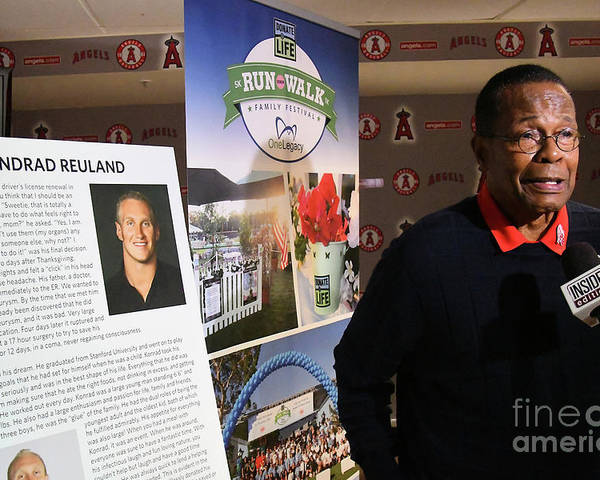People Poster featuring the photograph Rod Carew by Jayne Kamin-oncea