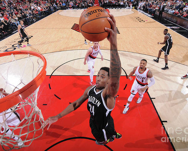 Nba Pro Basketball Poster featuring the photograph Rondae Hollis-jefferson by Sam Forencich