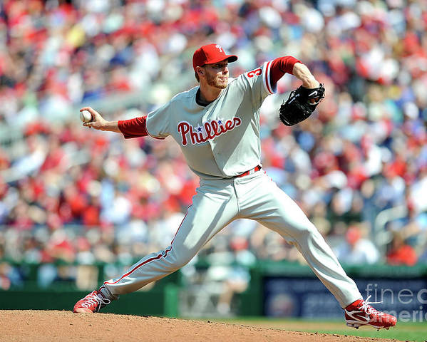Baseball Pitcher Poster featuring the photograph Roy Halladay by Greg Fiume