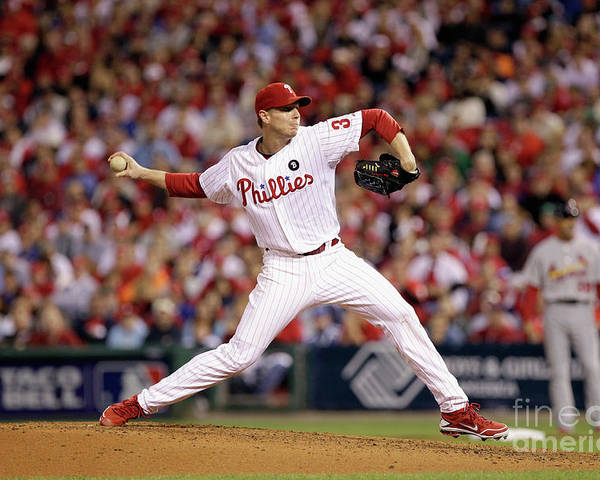 Citizens Bank Park Poster featuring the photograph Roy Halladay by Rob Carr