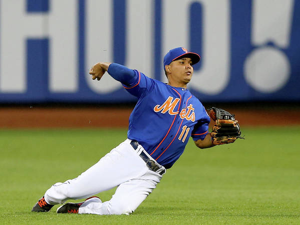 Second Inning Poster featuring the photograph Ruben Tejada by Elsa