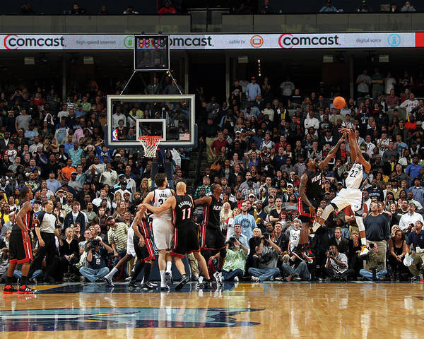 Nba Pro Basketball Poster featuring the photograph Rudy Gay and Lebron James by Joe Murphy
