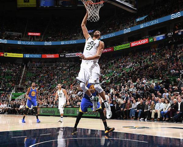 Nba Pro Basketball Poster featuring the photograph Rudy Gobert by Garrett Ellwood