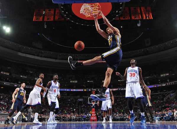 Nba Pro Basketball Poster featuring the photograph Rudy Gobert by Jesse D. Garrabrant