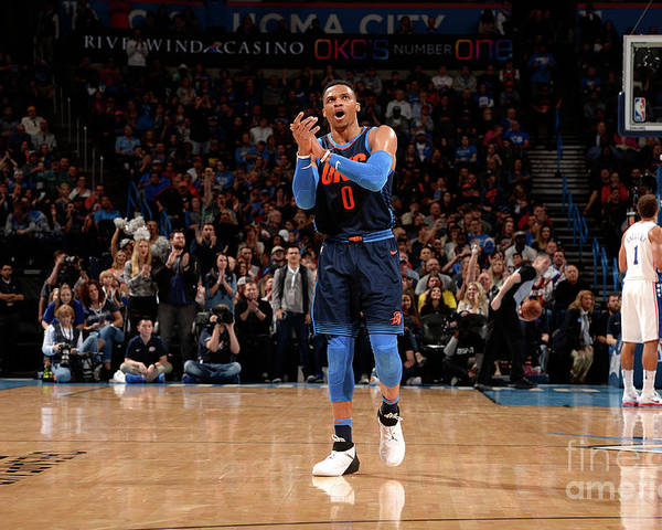 Nba Pro Basketball Poster featuring the photograph Russell Westbrook by David Dow