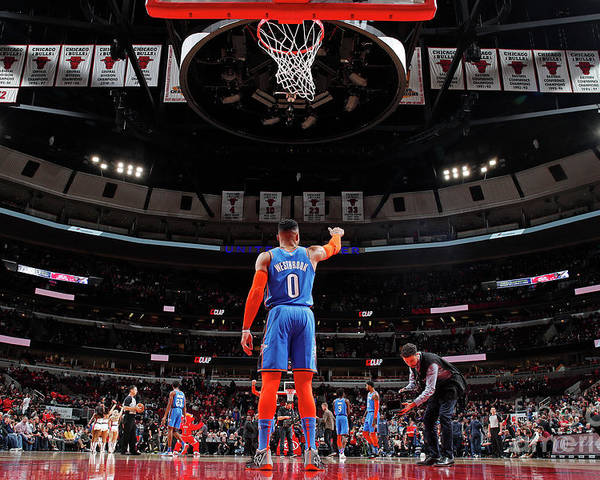 Nba Pro Basketball Poster featuring the photograph Russell Westbrook by Jeff Haynes