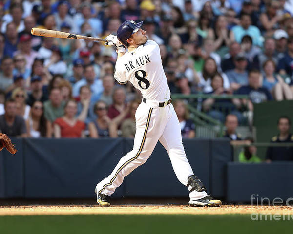American League Baseball Poster featuring the photograph Ryan Braun by Mlb Photos