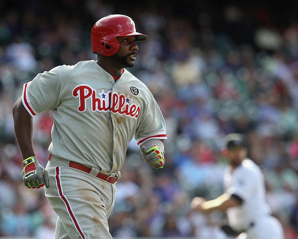 Ryan Howard Poster featuring the photograph Ryan Howard by Doug Pensinger