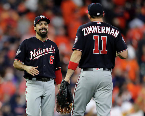 American League Baseball Poster featuring the photograph Ryan Zimmerman and Anthony Rendon by Elsa