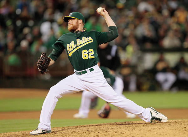 American League Baseball Poster featuring the photograph Sean Doolittle by Brian Bahr