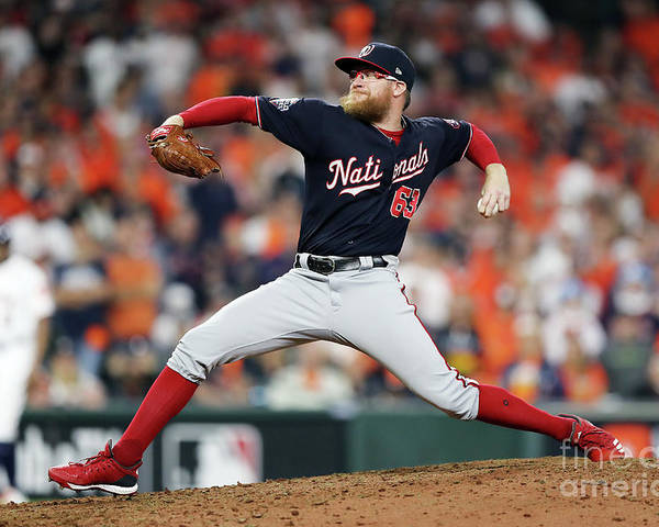 American League Baseball Poster featuring the photograph Sean Doolittle by Elsa