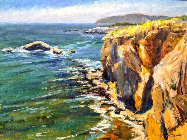 California Coast Poster featuring the painting Seaside Cliffs, Pismo Beach by Peter Salwen