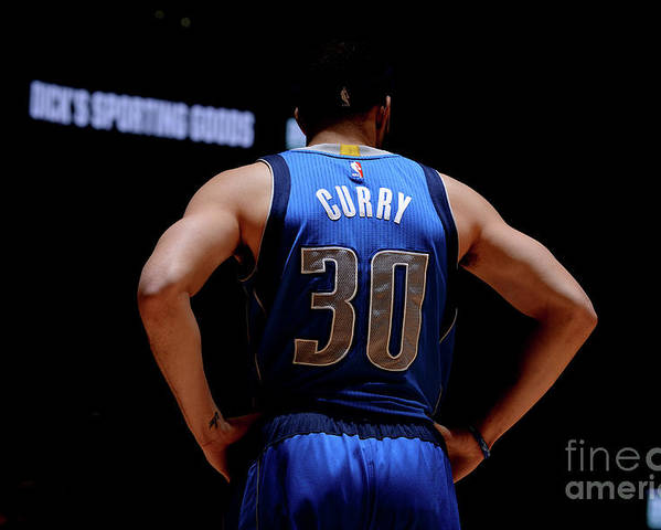 Nba Pro Basketball Poster featuring the photograph Seth Curry by Bart Young