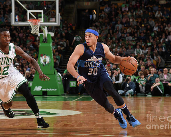 Nba Pro Basketball Poster featuring the photograph Seth Curry by Brian Babineau