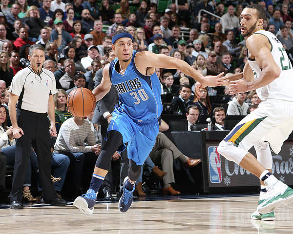 Nba Pro Basketball Poster featuring the photograph Seth Curry by Melissa Majchrzak