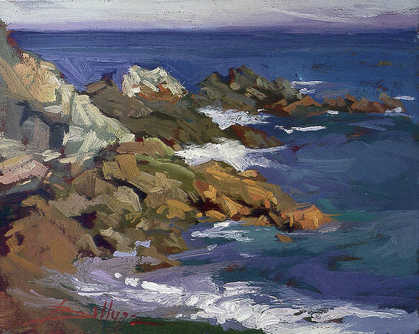 Catalina Island Paintings Poster featuring the painting Shark Autumn Catalina Plein Air by Betty Jean Billups
