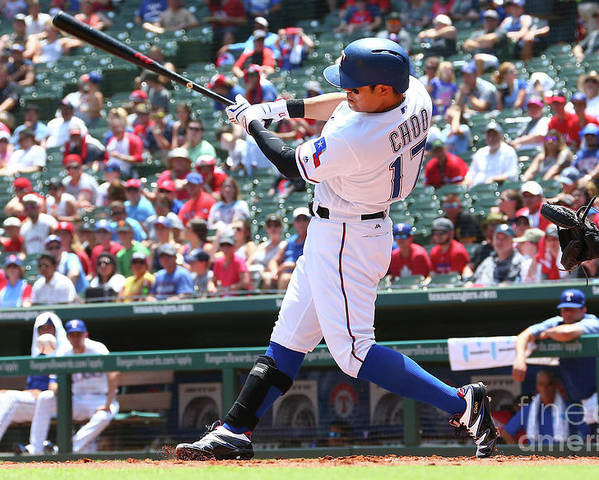People Poster featuring the photograph Shin-soo Choo by Rick Yeatts