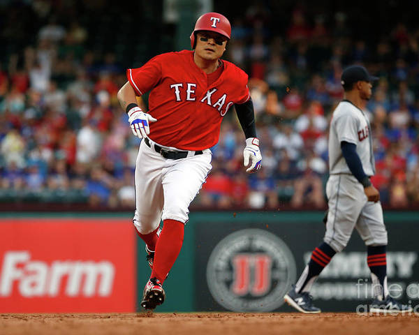 Second Inning Poster featuring the photograph Shin-soo Choo by Ron Jenkins