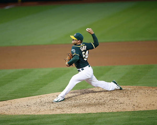 Sonny Gray Poster featuring the photograph Sonny Gray by Michael Zagaris