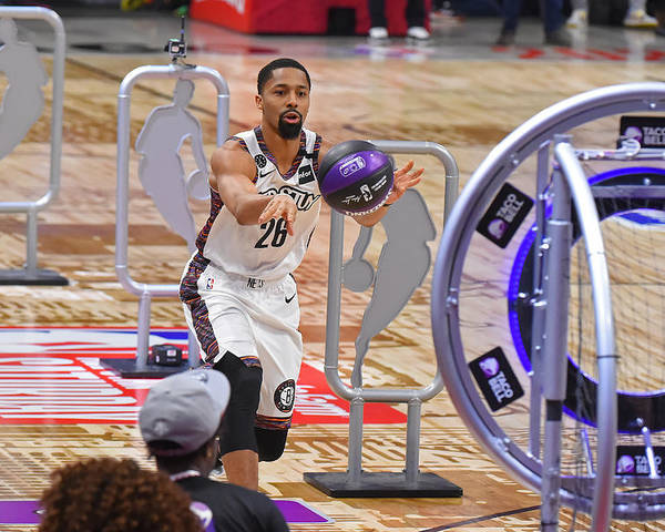 Nba Pro Basketball Poster featuring the photograph Spencer Dinwiddie by Bill Baptist