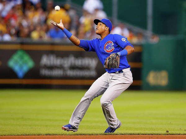 People Poster featuring the photograph Starlin Castro by Jared Wickerham