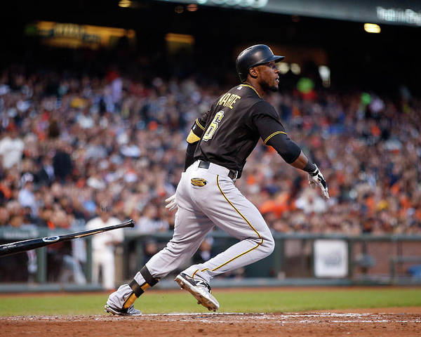 San Francisco Poster featuring the photograph Starling Marte by Ezra Shaw