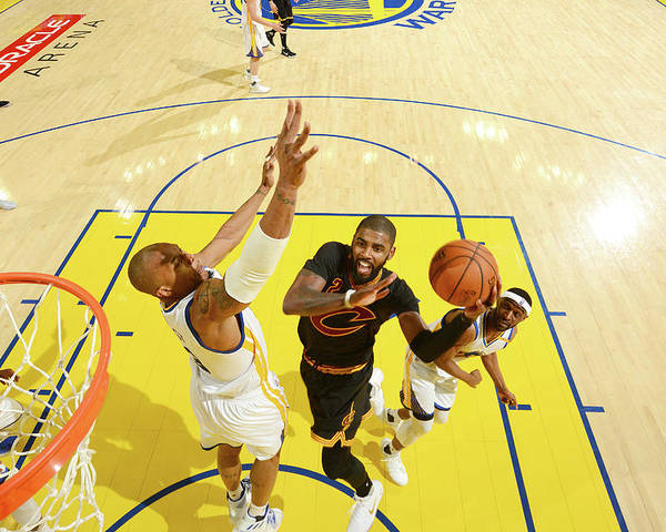 Playoffs Poster featuring the photograph Stephen Curry and Kyrie Irving by Jesse D. Garrabrant