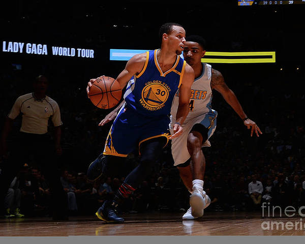 Nba Pro Basketball Poster featuring the photograph Stephen Curry by Bart Young