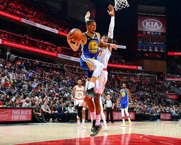 Atlanta Poster featuring the photograph Stephen Curry by Scott Cunningham