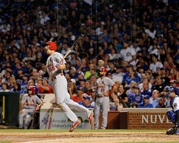 St. Louis Cardinals Poster featuring the photograph Stephen Piscotty by Jon Durr