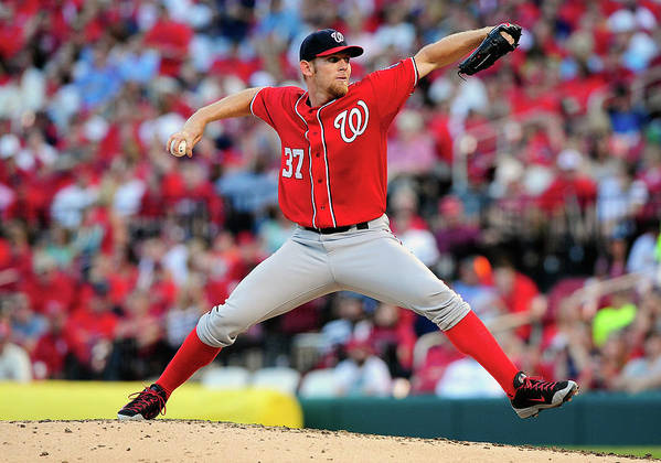 Stephen Strasburg Poster featuring the photograph Stephen Strasburg by Jeff Curry