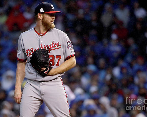 Three Quarter Length Poster featuring the photograph Stephen Strasburg by Jonathan Daniel
