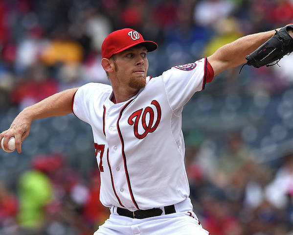Working Poster featuring the photograph Stephen Strasburg by Patrick Smith
