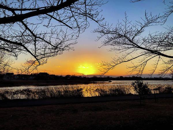 Sunset Poster featuring the photograph Tatebayashi Sunset by Kiyoto Matsumoto