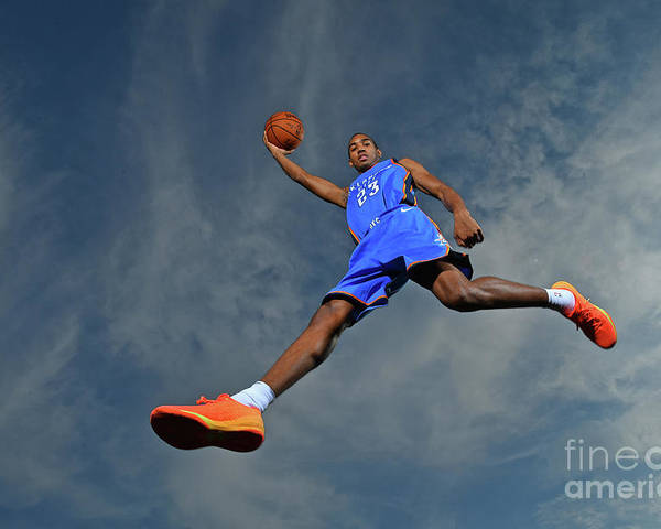 Nba Pro Basketball Poster featuring the photograph Terrance Ferguson by Jesse D. Garrabrant