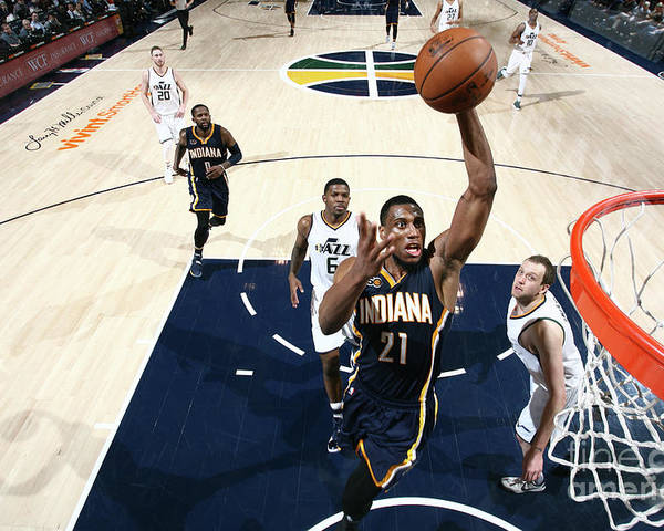 Nba Pro Basketball Poster featuring the photograph Thaddeus Young by Melissa Majchrzak