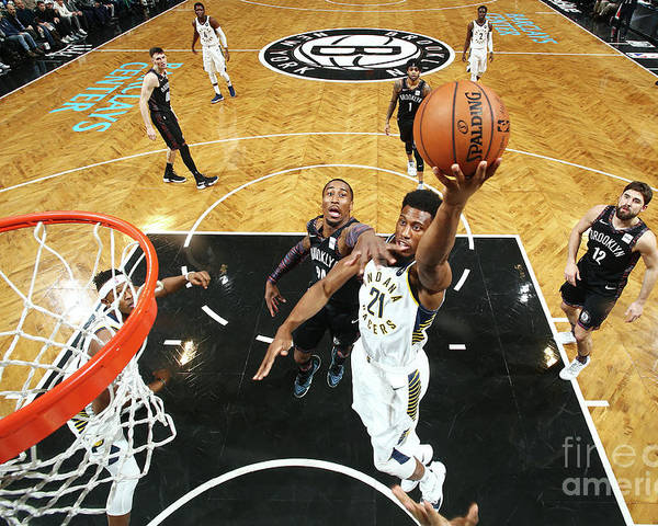 Nba Pro Basketball Poster featuring the photograph Thaddeus Young by Nathaniel S. Butler