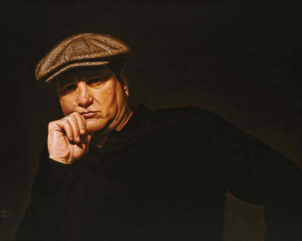 Seated Male Figure Poster featuring the painting The Irishman by Gary Hernandez