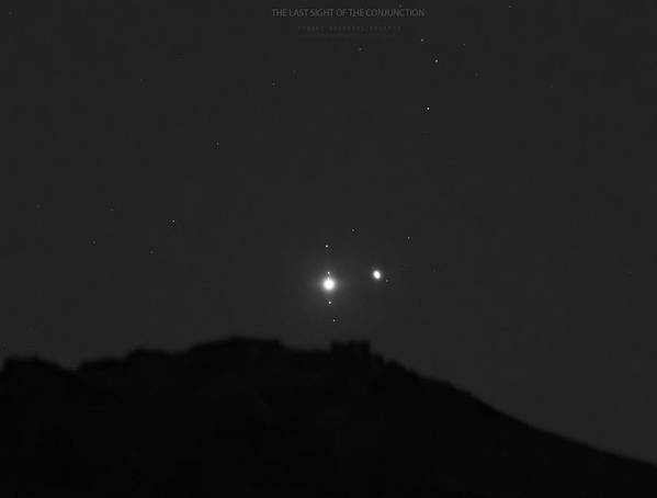 Poster featuring the photograph The Last sight of the Conjunction by Prabhu Astrophotography