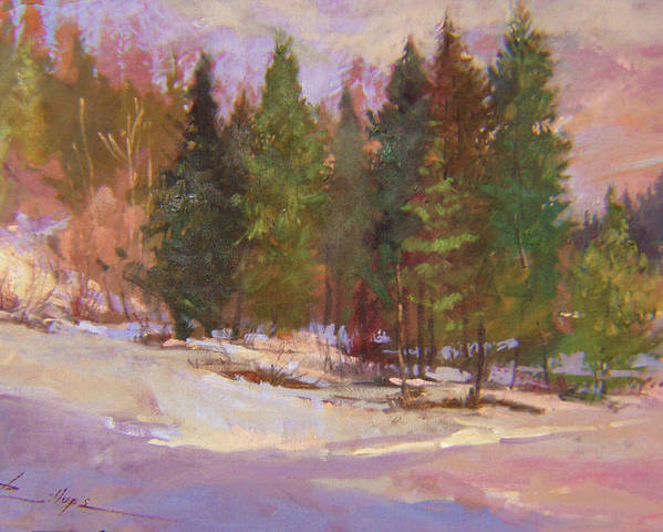 Plein Air Painting Poster featuring the painting The Road Home Plein Air by Betty Jean Billups