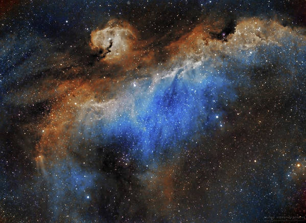 Astronomy Poster featuring the photograph The Seagull Nebula by Prabhu Astrophotography