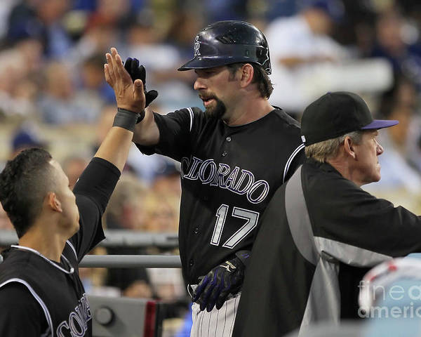 People Poster featuring the photograph Todd Helton by Jeff Gross