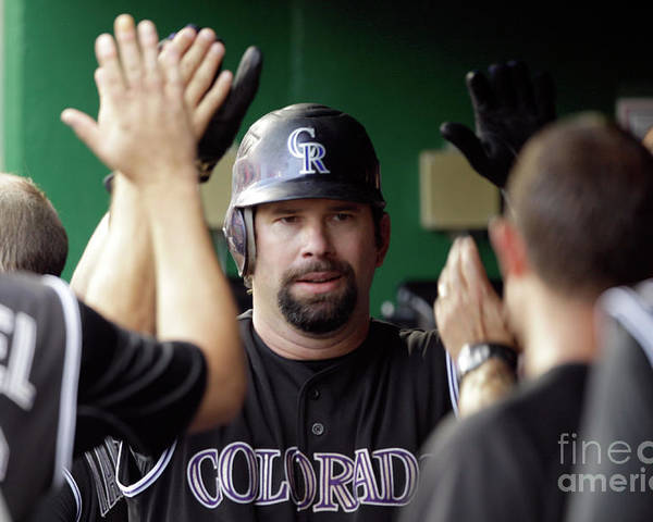 People Poster featuring the photograph Todd Helton by Rob Carr