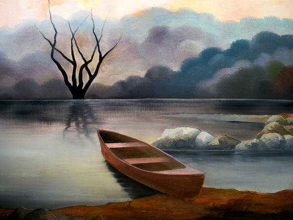 Duck Poster featuring the painting Tranquility by Sergey Bezhinets